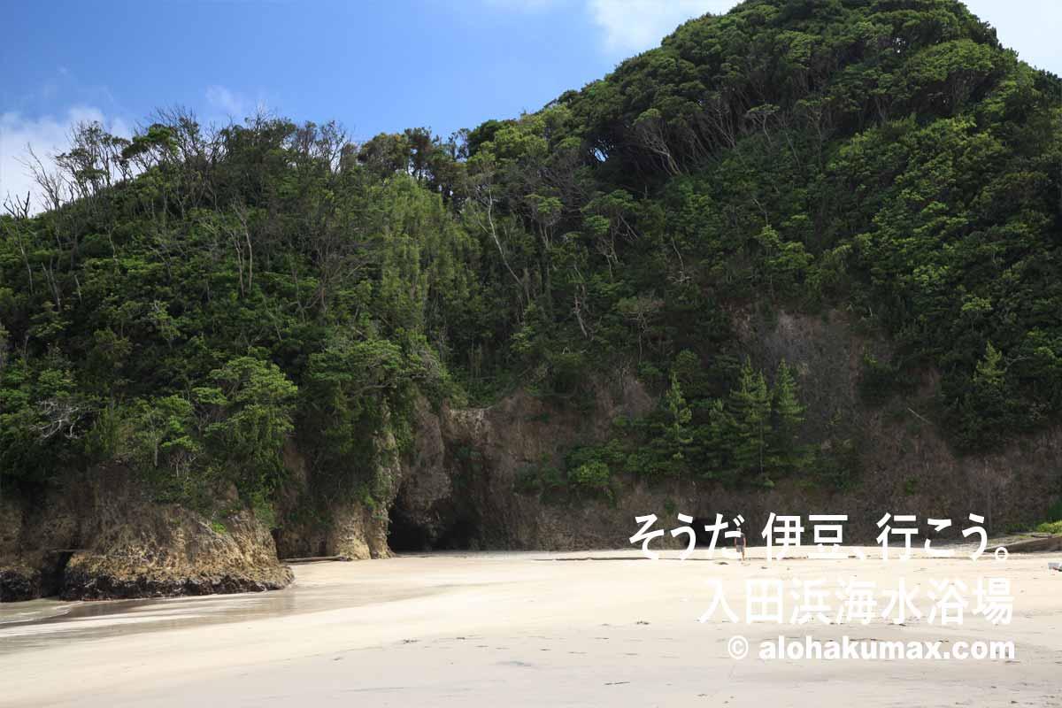 入田浜の断崖
