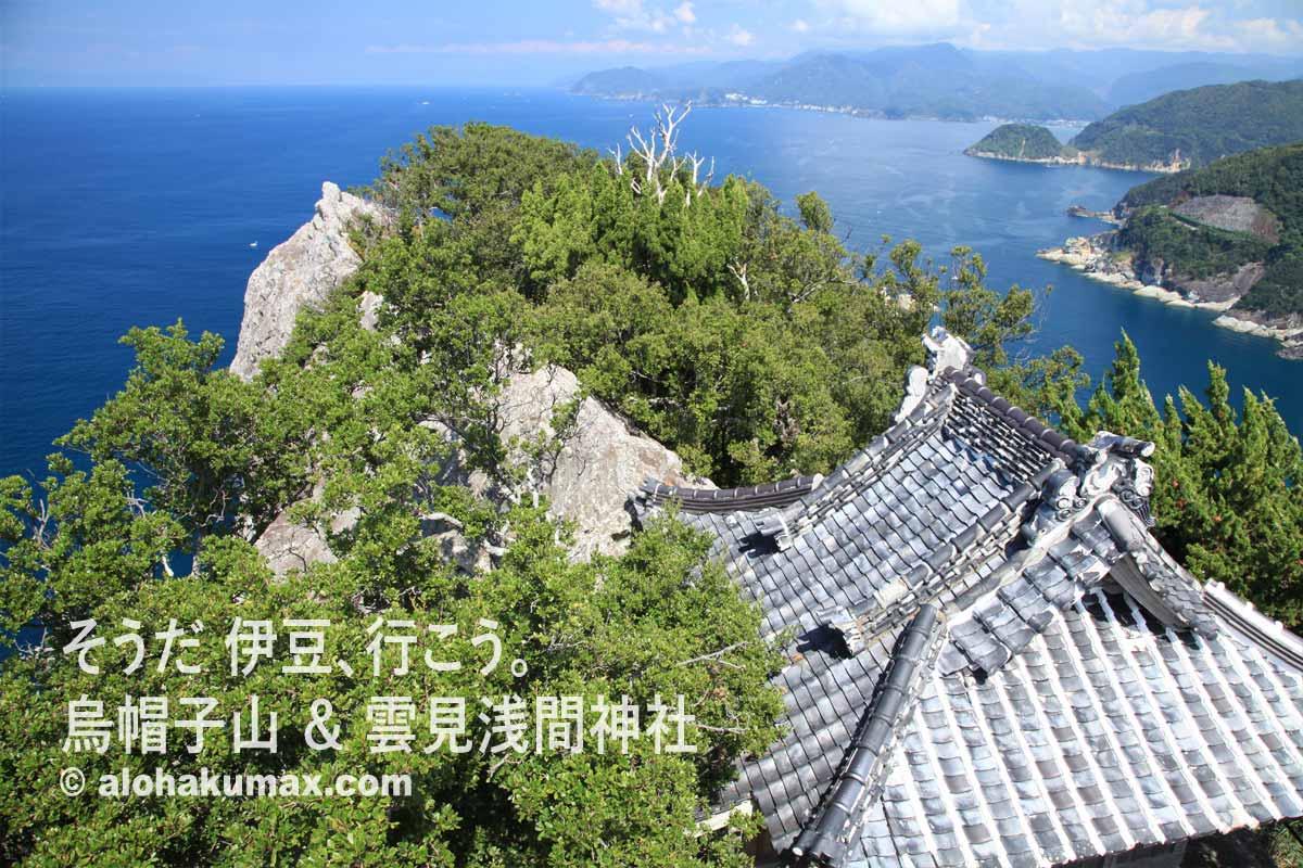 展望台からの景色(富士山&堂ヶ島方面)
