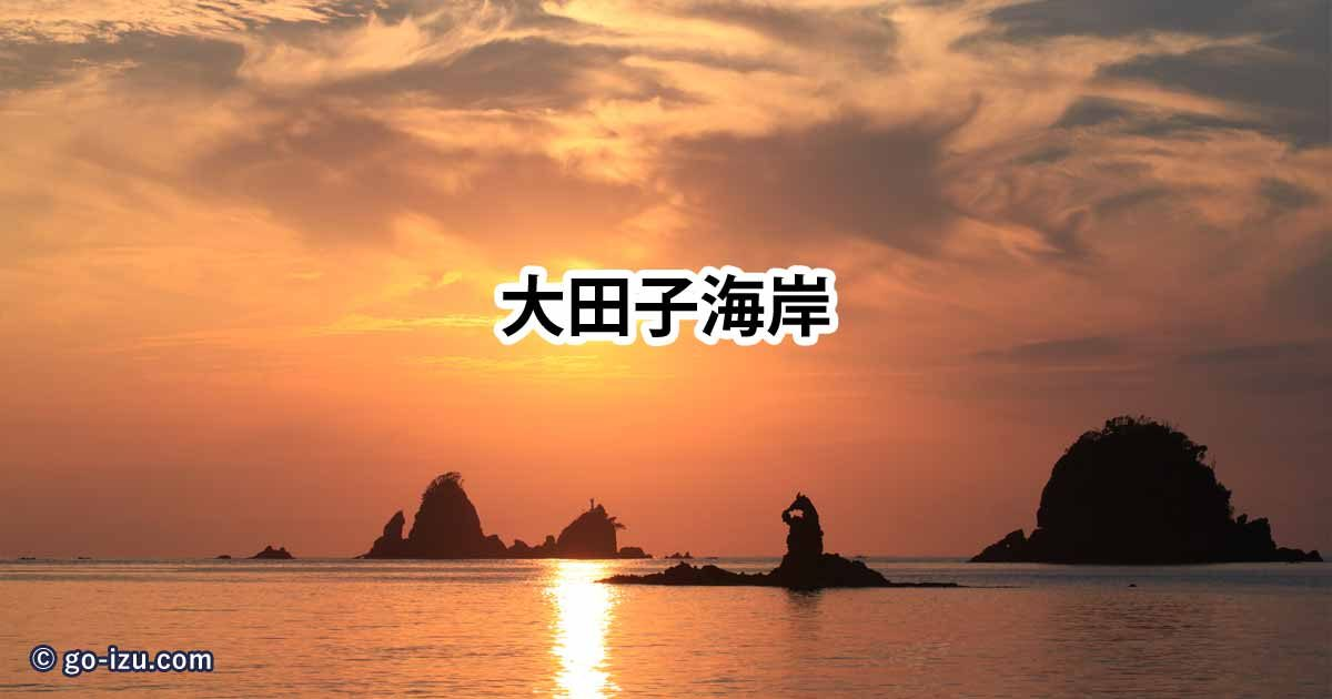 大田子海岸の夕陽