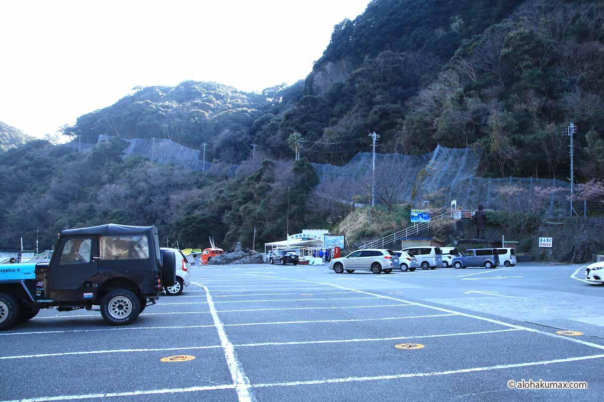石廊崎 遊覧船乗り場の駐車場