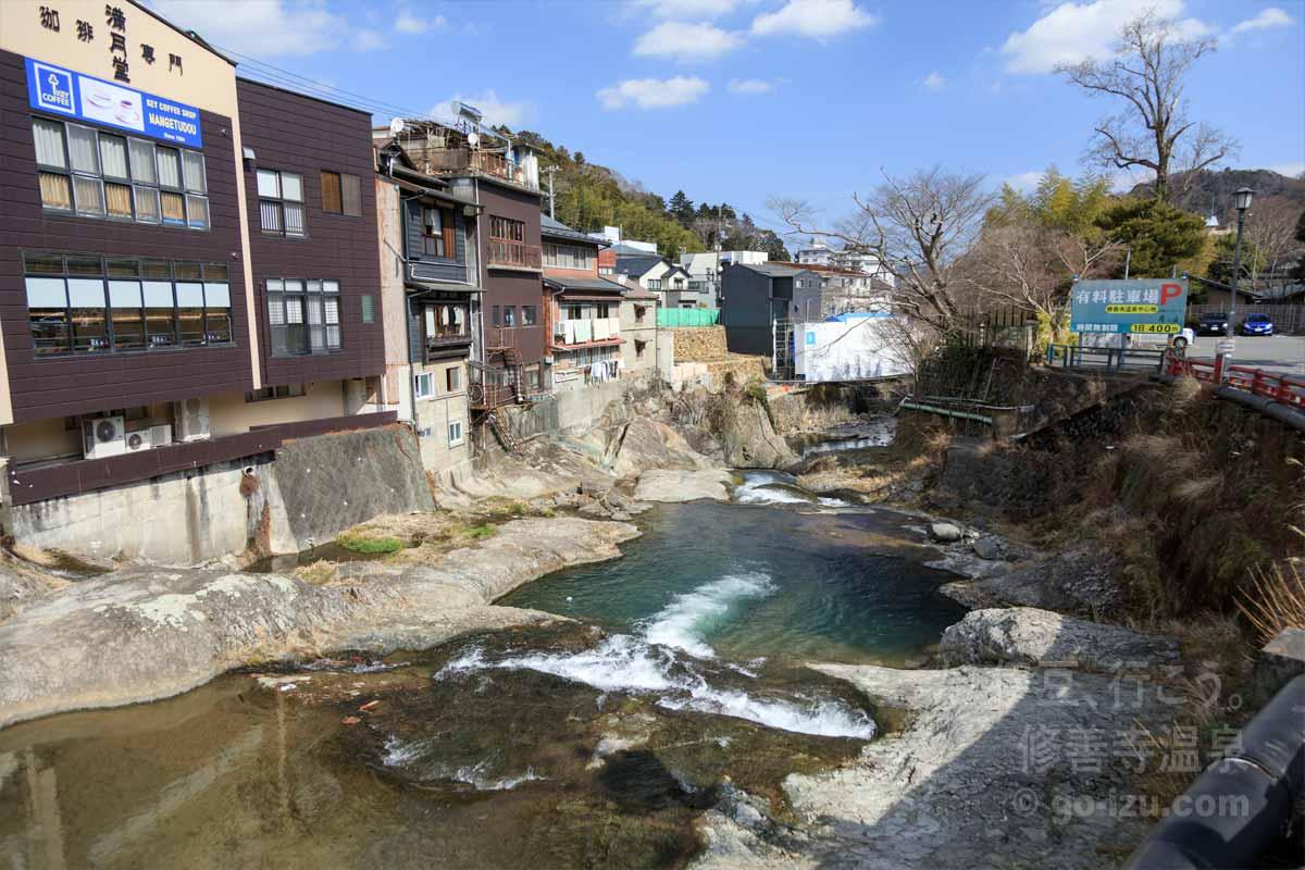 渡月橋から眺める桂川