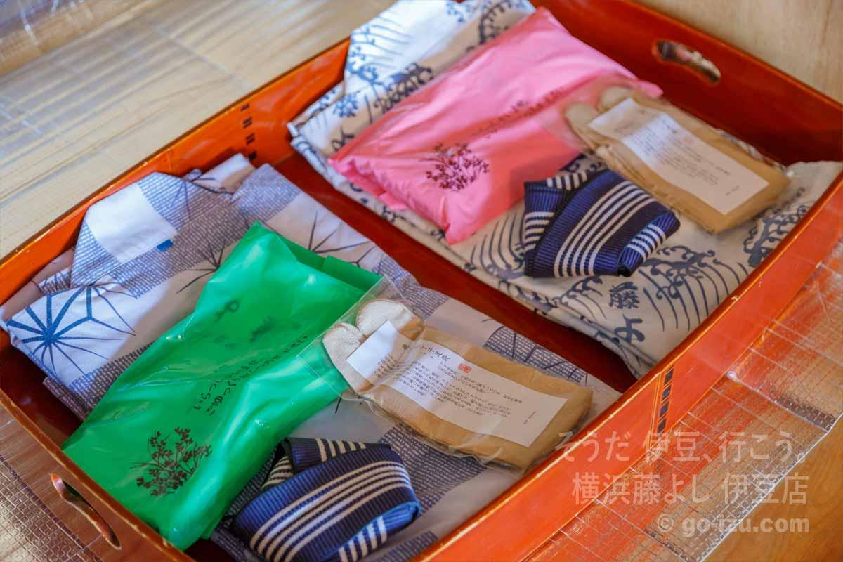 浴衣と足袋、タオルのセット