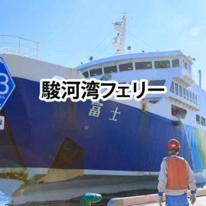 海なのに県道223号線 駿河湾フェリーから富士山を拝む / 伊豆市