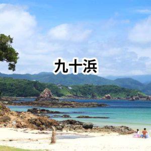 めちゃ綺麗!風光明媚なビーチ、九十浜海水浴場 / 下田市